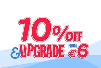 Britain: 10% OFF & upgrades from €6