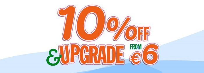 France & Britain: 10% OFF & upgrade from €6
