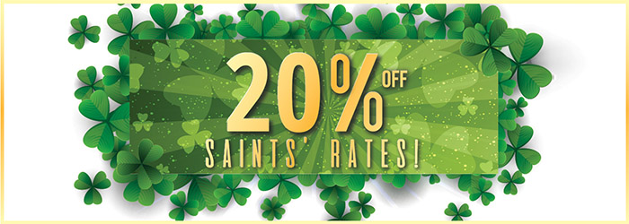 St Patrick's Day: save 20% on ferries to England